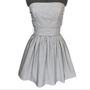 Abercrombie and Fitch Striped Strapless Dress-EUC